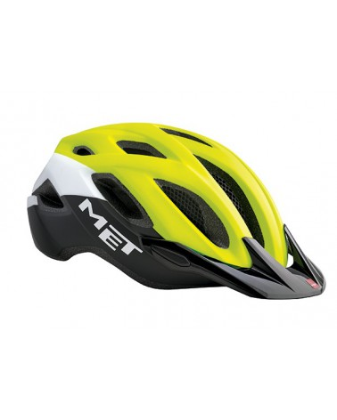 Casco Met Crossover 2017 XL Amarillo