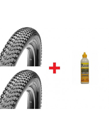 Pack Maxxis Ikon TLR EXO+Ikon TLR EXO+X-Sauce 200ml