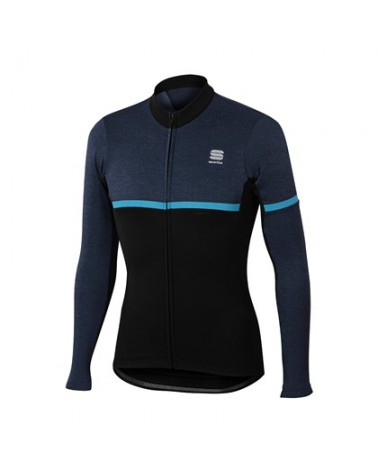 Maillot Sportful Giara Warm Top Negro/Azul