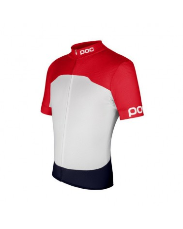 Maillot Poc Raceday Climber Bohrium Red/Hydrogen White