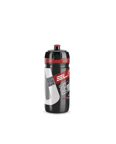 Bidón Elite Corsa 550 ml transparente rojo