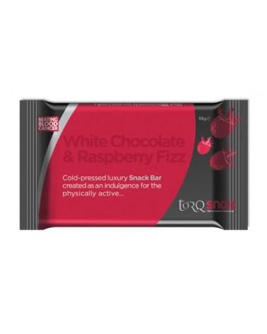 Barrita Torq Snaq Chocolate Blanco/Frambuesa 55g