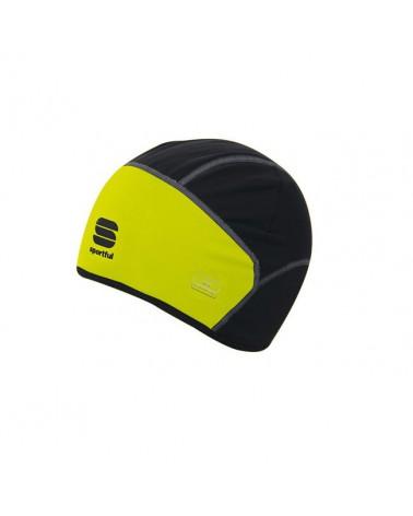 Gorro Sportful Windstopper Negro/Amarillo Fluor