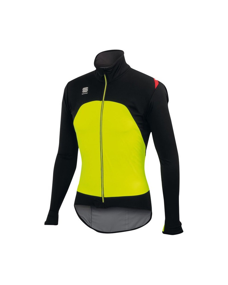 Chaqueta Sportful Fiandre Light WS Negro/Verde Fluor
