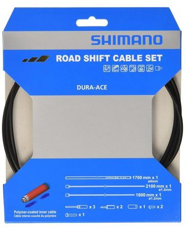 Cable de cambio/Funda/Topes Shimano carretera polimero N