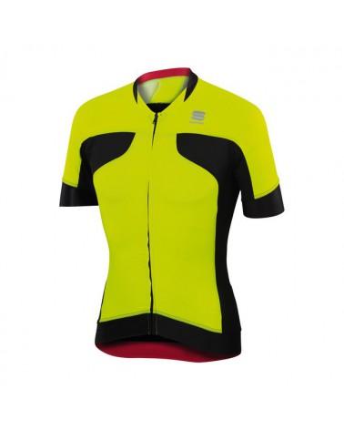 Maillot Sportful Passo Negro/Amarillo Fluor
