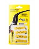 Kit 4 Zapatas Swissstop Flash Pro Amarillo Carbono