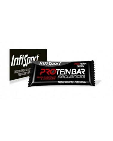 Barrita Infisport Protein Secuencial Fresa/Chocolate