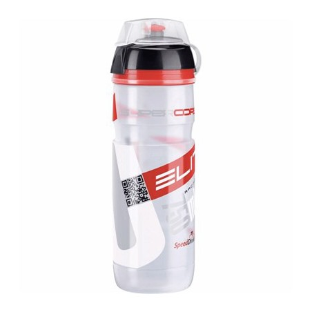 Bidón Elite Supercorsa MTB 750 ml. Transparente/Rojo