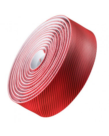 Cinta de manillar Bontrager Gel Cork Rojo Stripey