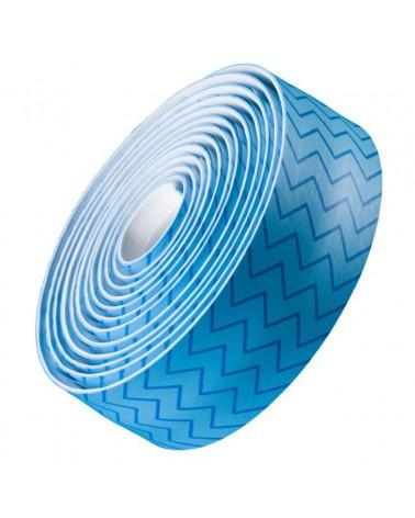 Cinta de manillar Bontrager Gel Cork Azul ZigZag