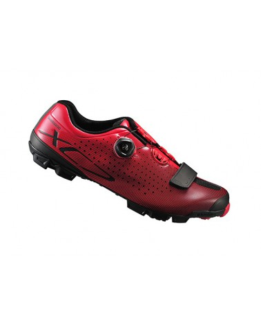 Zapatillas Btt Shimano XC7 Amarillo Rojo