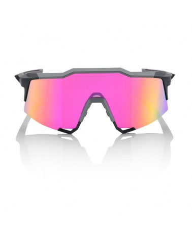 Gafas 100% Speedcraft LL Soft Tact Graphite Lente Espejo Purpura Multilayer