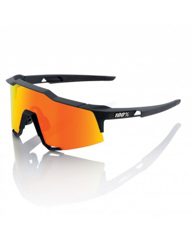 Gafas 100% Speedcraft LL Soft Tact Black Lente espejo roja HD Multilayer