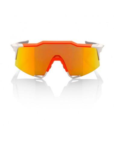 Gafas 100% Speedcraft LL White-Neon Orange Lente Espejo Roja HD Multilayer