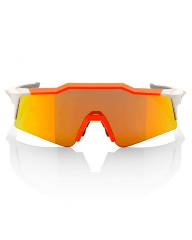 Gafas 100% Speedcraft SL White-Neon Orange Lente Espejo Roja HD Multilayer