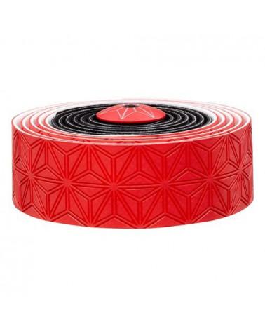 Cinta de manillar Super Supacaz Sticky Kush Multicolor Gel de Silicona Rojo/Negro