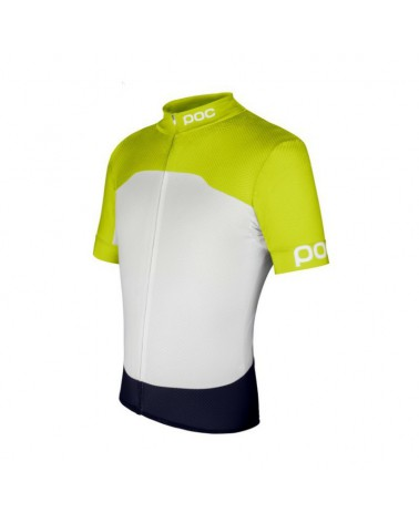 Maillot Poc Raceday Climber Yellow/Hydrogen White