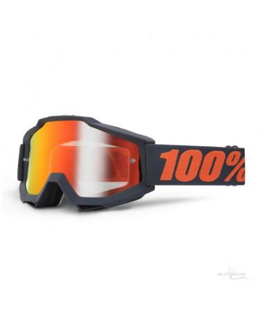 Mascara 100% Accuri Gunmetal Mate Lente Espejo Roja