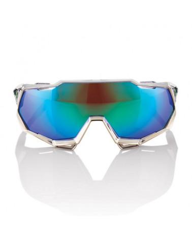 "Gafas 100% Speedtrap ""Peter Sagan"" Chromium Gunmetal Lente Verde Espejo Multilayer"