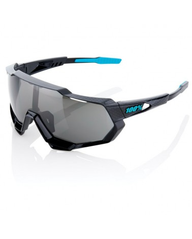Gafas 100% Speedtrap Polished Black Graphic Lente Espejo Negra