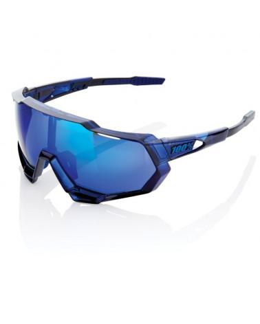 Gafas 100% Speedtrap Polished Translucent Blue Lente Espejo Electric Blue