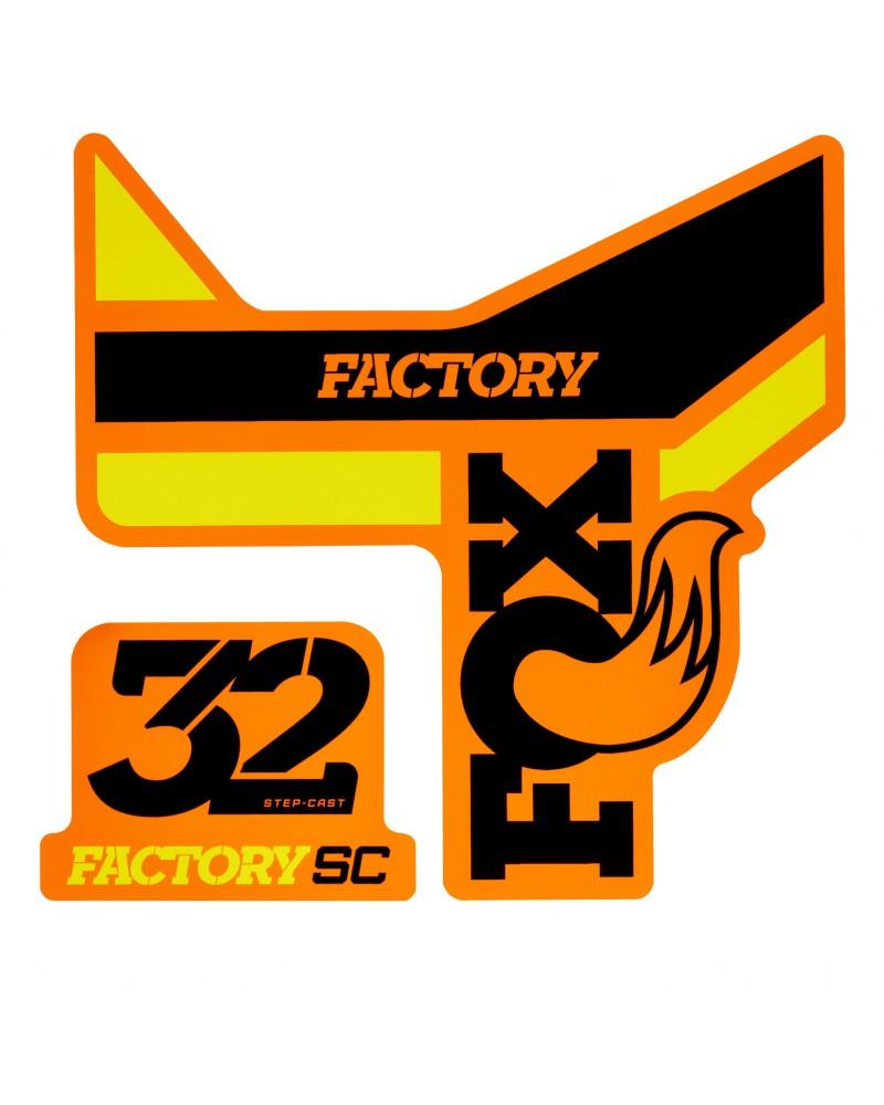 Adhesivos Fox 32 SC Factory Negro/Amarillo/Naranja 2018
