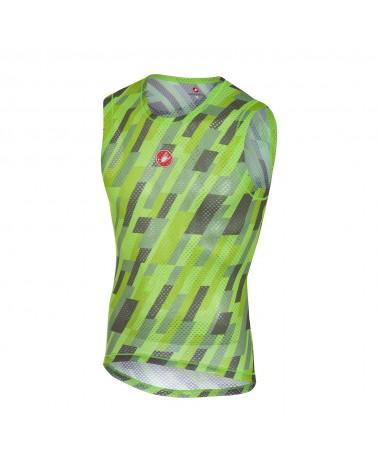 Camiseta Interior Castelli Pro Mesh sin mangas Verde