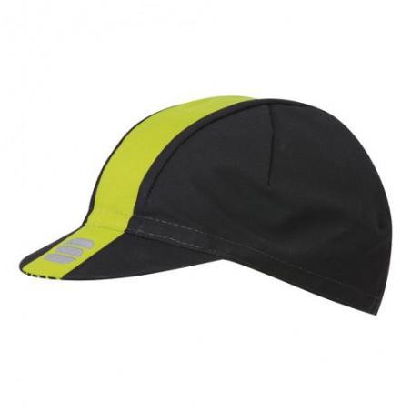 Gorra Sportful Bodyfit Pro Negro/Amarillo Fluor