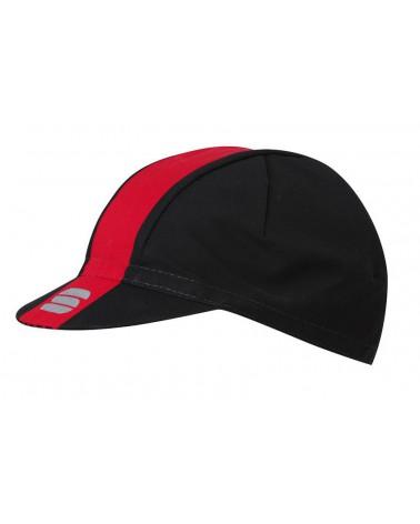 Gorra Sportful Bodyfit Pro Negro/Rojo