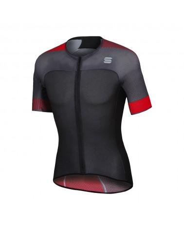 Maillot Sportful Bodyfit Pro Light Negro/Rojo