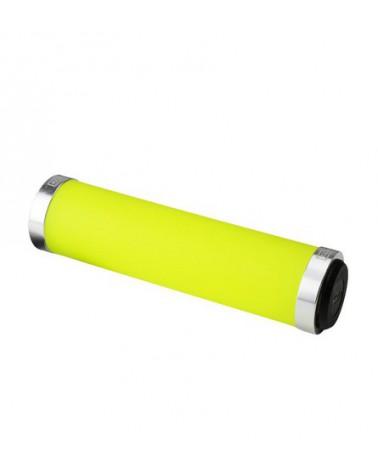 Puños Eltin Silicon Touch Amarillo Fluor con cierre Plata