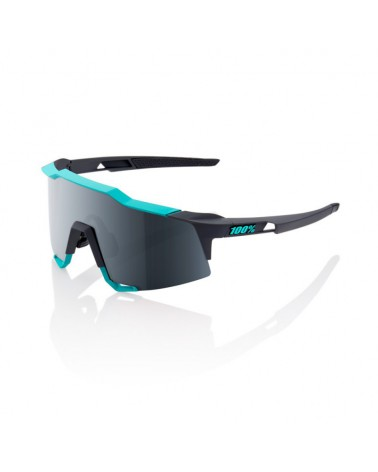 Gafas 100% Speedcraft LL Soft Tact Celeste Green-Cement Grey Lente Espejo Negra