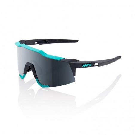 Gafas 100% Speedcraft LL Soft Tact Celeste Green-Cement Grey Lente Espejo Negra