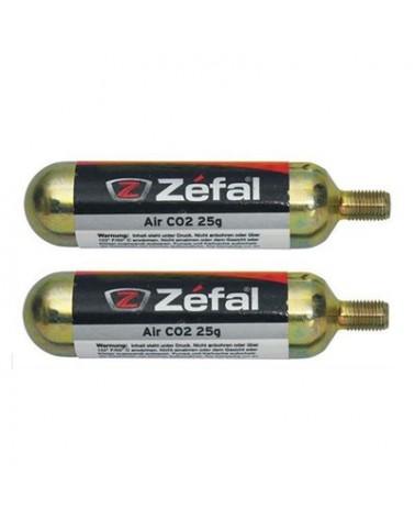 Pack 2 Bombonas de CO2 Zefal 25 gramos.