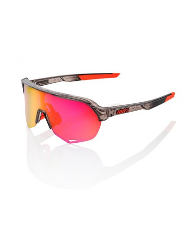 Gafas 100% S2 Cristal Translucido Pulido Lente Espejo Purpura Multicapa