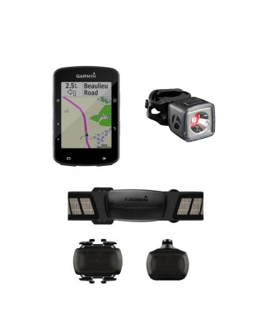 Gps Garmin Edge 520 Plus Pack + Luz Bontrager Flare R City