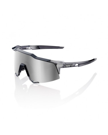 Gafas 100% Speedcraft LL Polished Trasluscent Crystal Grey Lente Espejo Hiper Silver
