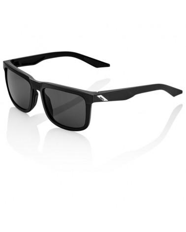 Gafas Casual 100% Blake Soft Tact Black Lentes Ahumadas