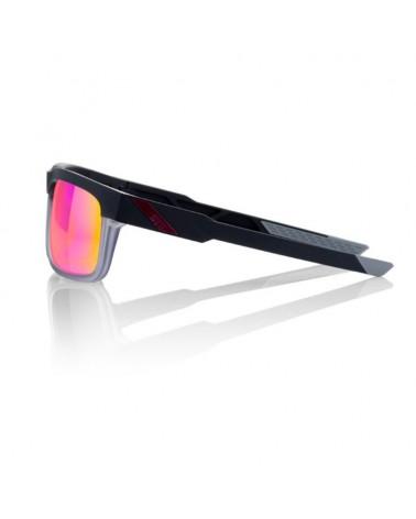 Gafas Casual 100% Type-S Soft Tact Graphite Lente Espejo Púrpura Multilayer