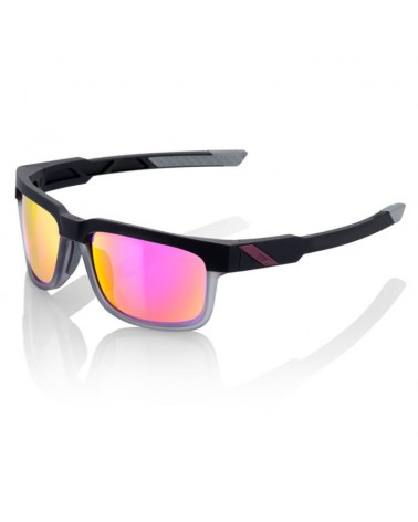 Gafas Casual 100% Type-S Soft Tact Graphite Lente Espejo Púrpura Multilayer