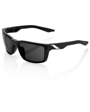 Gafas Casual 100% Daze Soft Tact Black Lentes Ahumadas