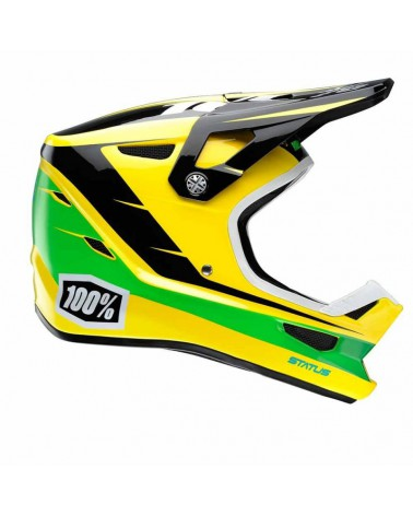 Casco Integral 100% Status D-Day Yellow