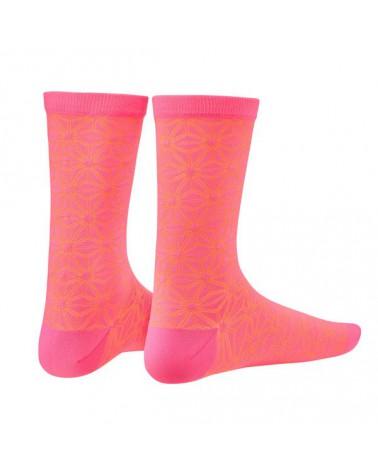 Calcetín Supacaz Asanoha Rosa neon/Naranja neon