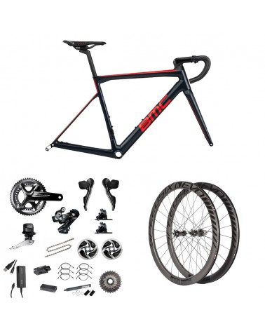 Bicicleta BMC Teammachine SLR01 Disc Blue Red Carbon 2019