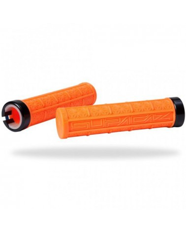 Puños Supacaz Lock-On Grizips Naranja Neón
