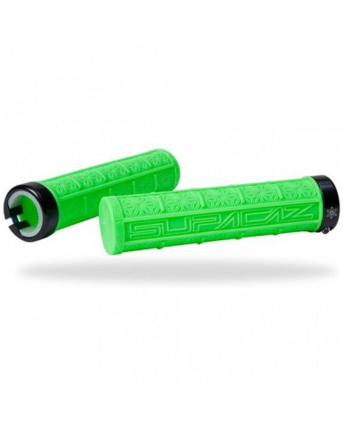 Puños Supacaz Lock-On Grizips Verde Neón