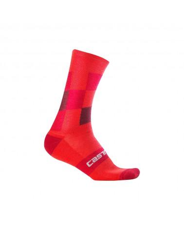 Calcetín Castelli Diverso 2 18 Rojo