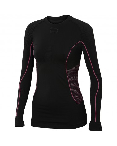 Camiseta interior Sportful 2nd Skin LS Top Women Negro