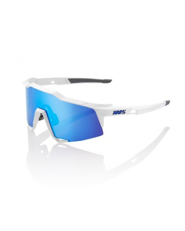 Gafas 100% Speedcraft LL Matte White lente espejo multicapa hiper blue